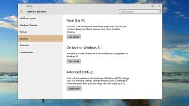 Uninstalling Windows 10