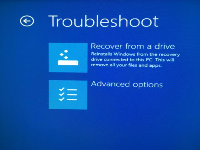 Windows 10 recovery USB